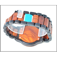 Wholesale Ebony Wooden Watch Wood Dial Quartz Brand Watches Christmas Gift thumbnail image
