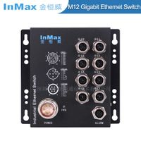 EN50155 M508A X-code 1000Mbps 8 Port M12 Gigabit Railway Industrial Ethernet Switch