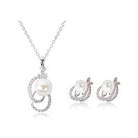 Pearl Necklace Earring Wedding Jewelry Set