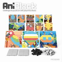 Educational toy, block & puzzle AniBlock First Collection Expansion Pack ver.2 for 6 Colors