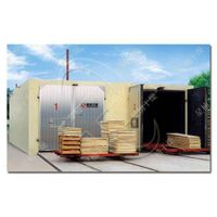 Indirect-fired heating wood drying kiln