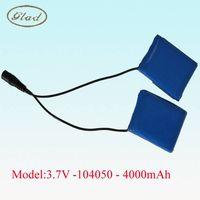 104050 3.7V Lithium Polymer Battery Pack 4000MAh