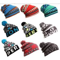 100% acrylic jacquard custom design autumn winter knitted beanie
