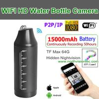 WI-1080T,WIFI Water Bottle Camera,15000 Battery Recording 50hour, 1080P/H.264,P2P/IP/WIFI,TF Max 64G thumbnail image