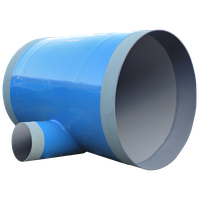 Polyethylene 3layer Coated steel fittings - Mitered Tee drain pipe thumbnail image