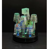 8 Headed LED Glass Holder  led serving tray for sale  LED acrylic serving tray