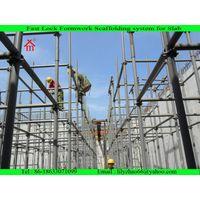 steel post shoring system for concrete slab formwork