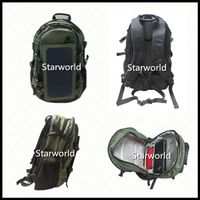 Military Waterproof Backpack Bag Solar Power Battery USB Charger Panel Solar Backpack thumbnail image