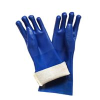40 cm blue sandy finished PVC working safety gloves