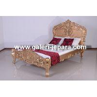 Rococo BED Furniture Mahogany Wood Furniture thumbnail image