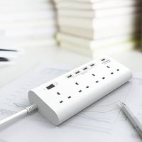 uk main multi plug socket with smart usb connection QC3.0 fast charging with safety shutter