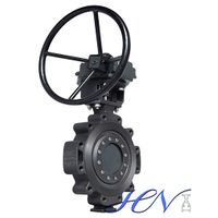 Triple Eccentric Industrial Carbon Steel Gear Operated Lug Type Butterfly Valve thumbnail image