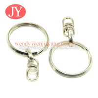 Silver key ring findings Key ring with 8 hook