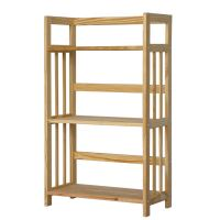 Wooden 3 Shelf Bookcase- Solid Unfinished Pine