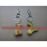 promotional gift carved wooden animal keyring