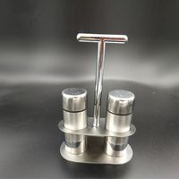 Stainless Steel Condiment Dispenser Set