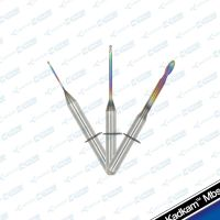 VHF new coated dental milling burs zirconia/pmma/wax cutters