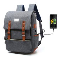 Anti Theft Eminent Travel Backpack Laptop Bag with USB Charging Port