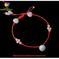 interwoven jewelry fashion summer black stone jewelry gem bead feet anklet jade pendant adjustable