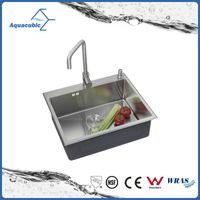 Man-made undermount kitchen inox single sink with elegant faucet ( ACS5848A1)