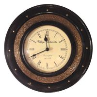 Brass Wooden Antique Wall Clock-12inch (Double Ring) (AR-22)