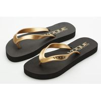 Gold rubber flip flops