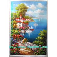 oil painting, landscape oil painting, oiil painting by knife
