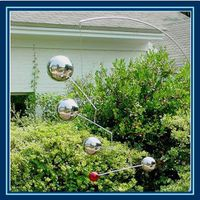 stainless steel brushed sphere for garden landscaping and decking thumbnail image