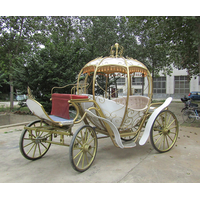 Latest Princess Wedding Horse Carriage with soft glass