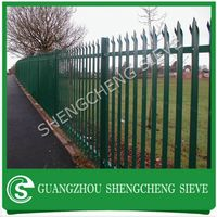 Stong durable anti theft powder coated vanguard security steel palisade