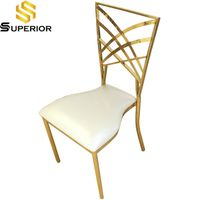 Luxury gold chiavari metal chair for wedding party