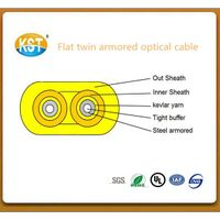 Communication cable/duplex cores Flat Twin Duplex Military Tactical Armored Indoor optical cable (GJ