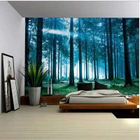 Forest Tapestry Wall Hanging Beach Mat Polyester Blanket Picnic Blanket Tablecloth thumbnail image