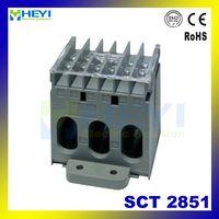 HEYI 3 phase current transformer for ammeter SCT2851 din rail ac current sensor