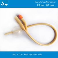 disposable natural latex urethral catheter with hard valve