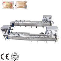 Horizontal Automatic feeding 2-lines lifting type Full servo High Speed pillow packing machine