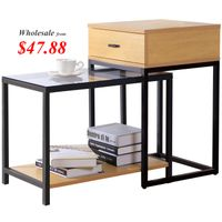 Lifewit 2-piece Nesting Side Accent Table Set with Drawer thumbnail image