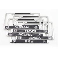 American stainless steel carbon fiber license plate frame U.S. regulatory license frame