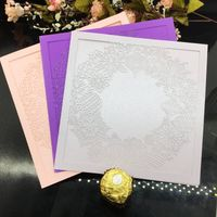 Christmas Elegant Laser Cut Wedding Cards