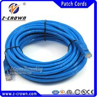 RJ45 Patch Cable Cat5e 7X0.18mm stranded copper RJ45 cables with 30inch gold plating connectors