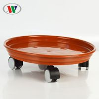 plastic plant caddy/plant dolly/plant trolly with wheels and container