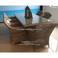 Round wicker dining set for Home,Hotel, Garden and Beach by Clover Lifestyle Outdoor Furniture