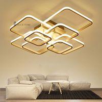 Modern LED Ceiling Light Black&White Chandeliers Ceiling Lamp LED Light Fixtures Living room Bedroom thumbnail image