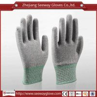 SeeWay 901 13 gauge carbon Fingertip ESD PU coated working gloves