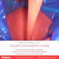 Frozen Strawberry Puree,Frozen strawberries puree,with seeds/without seeds thumbnail image