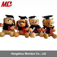 Wholesale plush graduation bears different size and style can be custom