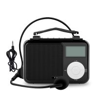 Multi-function Retro Radio Player with remote control 4400mah morning exercise voice amplifier