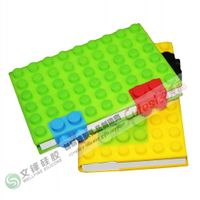 Wholesale Eco-friendly silicone notebook with blocks design in A6 size paper thumbnail image
