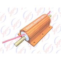 600Watts golden aluminum shell fixed power non-inductive resistor