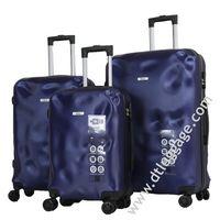 Customized Design Abs Pc Trolley Case Wheeled Suitcase Travel Bag Luggage thumbnail image